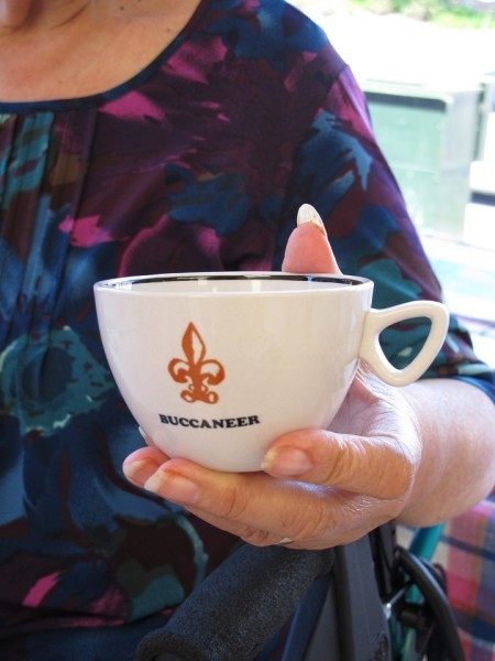 this cup was made by moeroa for Tom Clark's boat 'Buccaneer'.